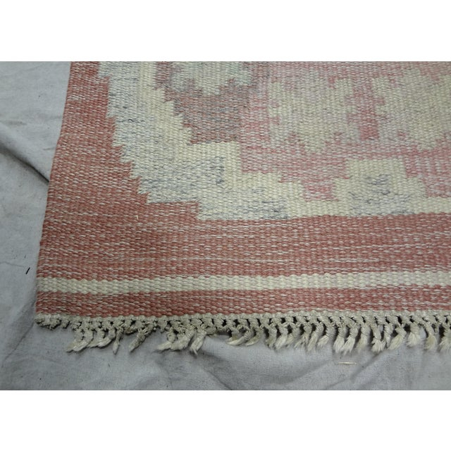 Mid-Century Modern Swedish Mid-Century Flat-Weave Rug - 2′8″ × 5′7″ For Sale - Image 3 of 4