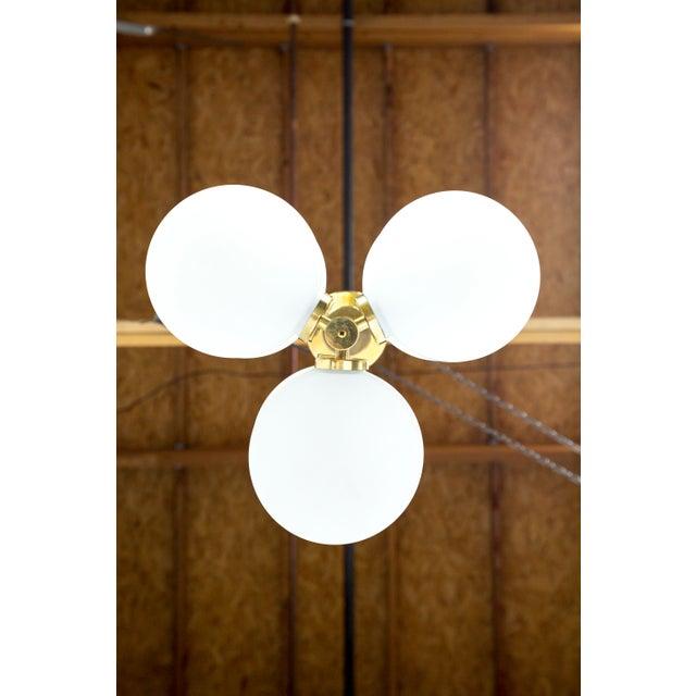 Gold Sputnik 6-Light Disk Pendant by Kaiser Leuchten For Sale - Image 8 of 13