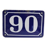 Image of Vintage Large French Metal Street Number #90 For Sale