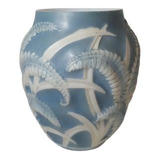 Blue Fern Phoenix Glass Vase