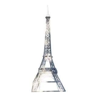 The Iconic White Metal Eiffel Tower
