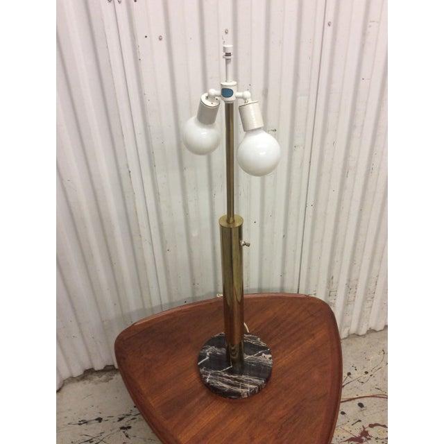 Walter Von Nessen Brass & Marble Table Lamp - Image 4 of 8