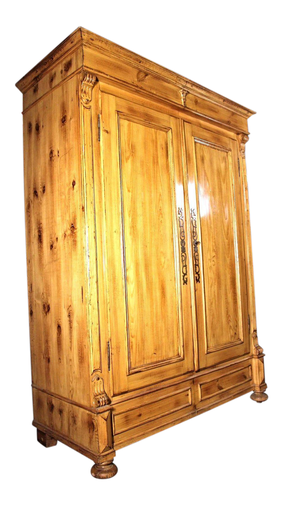 19th C. Provincial Country Pine Armoire