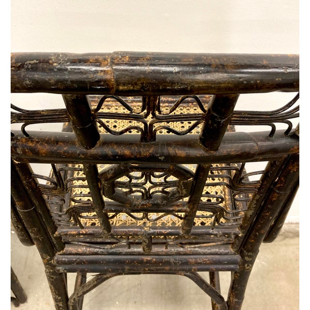 Sienna Brighton Bamboo Counter Chairs - a Pair For Sale - Image 8 of 11