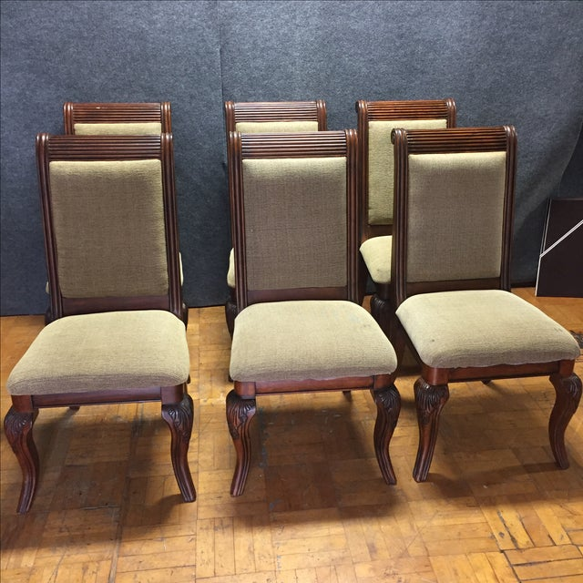 Lyre-Back Wooden Dining Chairs - Set of 8 - Image 2 of 11
