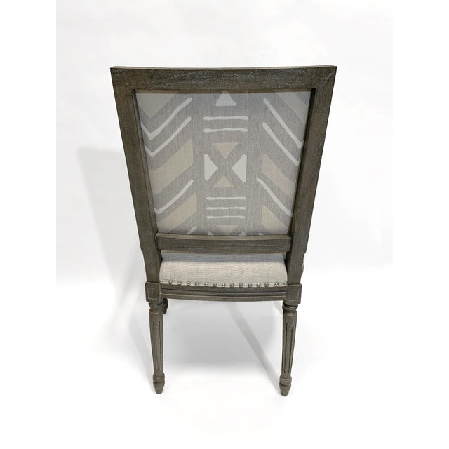 English Palecek Lion Square Back Arm Chair For Sale - Image 3 of 10