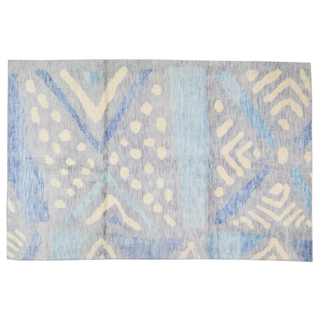 """2010s Moroccan Hand Knotted Azilal Rug With Soft Texture,6'6""""x10'2"""" For Sale - Image 5 of 5"""