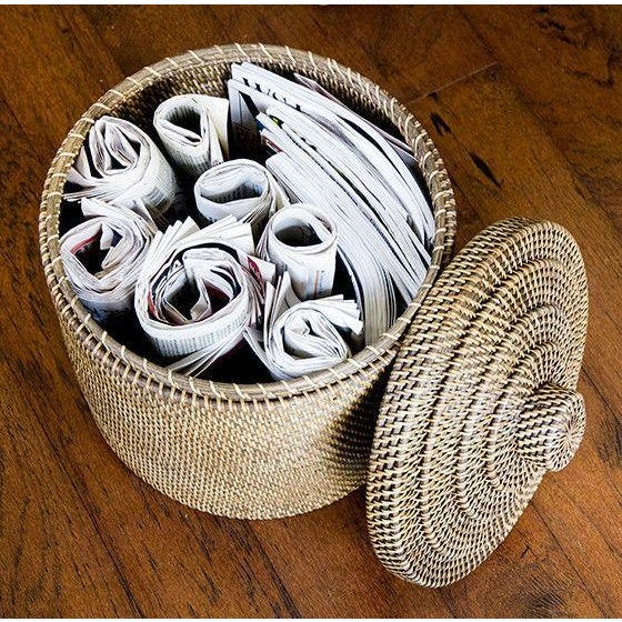 Rattan Basket With Top - Image 3 of 3