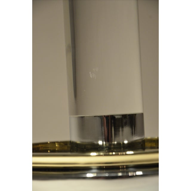 2 Mid Century Modern Lucite, Brass & Chrome Charles Hollis Jones Occasional / Side Tables - Image 6 of 9