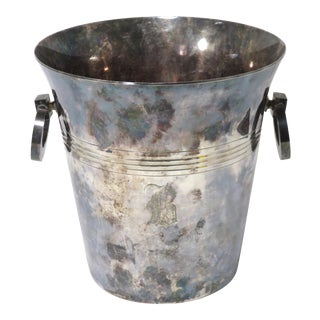 1930s French Art Deco Silverplate Champagne Bucket For Sale