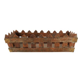 Rustic Shabby Wood Picket Fence Box For Sale