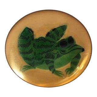 Vintage Mid Century Enamel Dish Frog