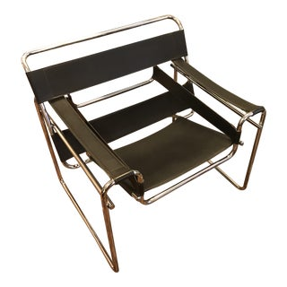 Wassily Chair, Vintage Reproduction, Originally Designed by Marcel Breuer For Sale