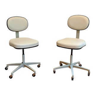 Vintage Industrial Drafting Stools - a Pair For Sale