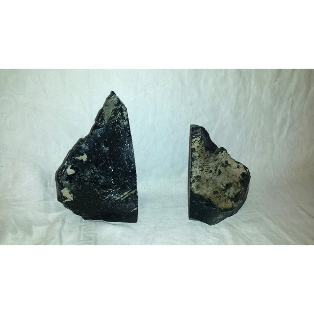Natural Black Obsidian Bookends - A Pair For Sale - Image 4 of 6