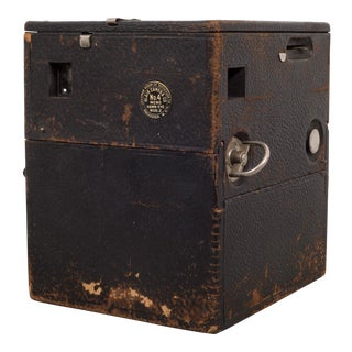 Late 19th C. Antique Leather Box Camera C.1890-1916 For Sale