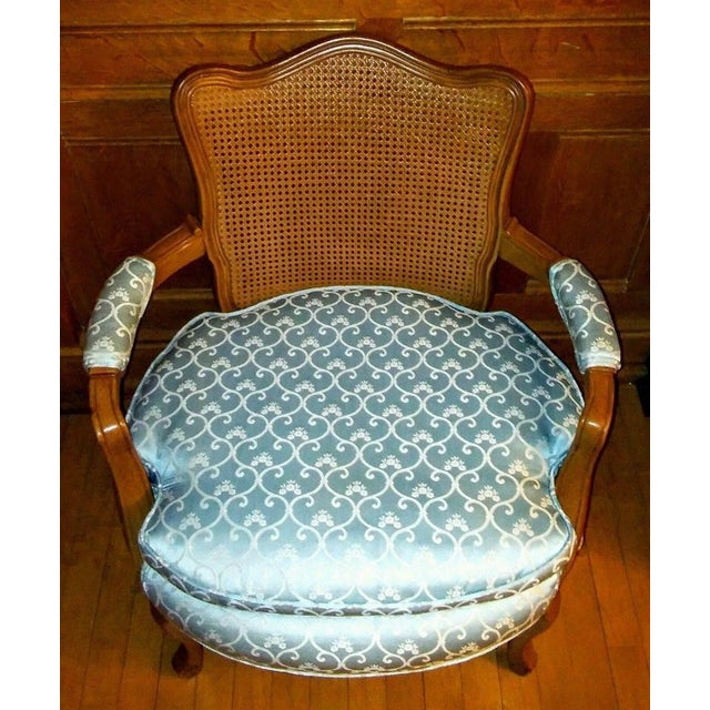 Vintage French Provincial Caned Back Chair - Image 3 of 5