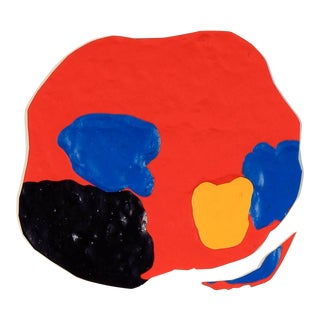 Gwen Stone Abstract in Primary Color Acrylic Painting, Late 20th Century For Sale