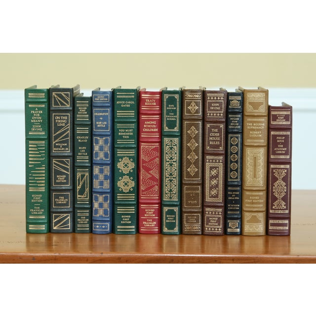 Set of 12 Franklin Mint 1st Edition Signed Leather Books For Sale - Image 10 of 10
