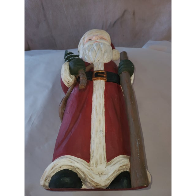 Traditional Holiday Santa With Staff Vintage For Sale In New York - Image 6 of 7