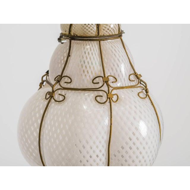Italian Handblown Murano Lantern For Sale In New York - Image 6 of 9