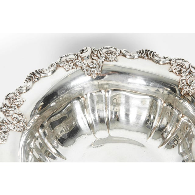 Vintage Silver Plate Fruit Bowl Piece For Sale - Image 10 of 13