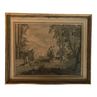 19th Century French Pastoral Scene Print For Sale