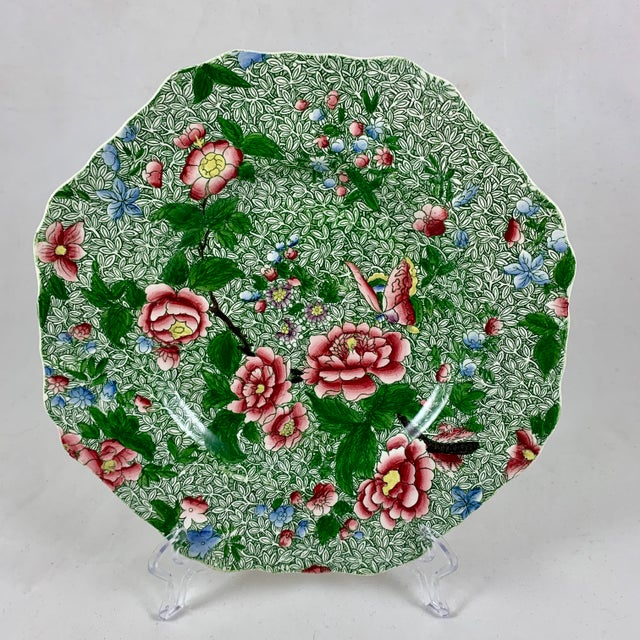Spode's New Fayence King Chintz Pattern Transferware Plate, Circa 1820s For Sale - Image 13 of 13