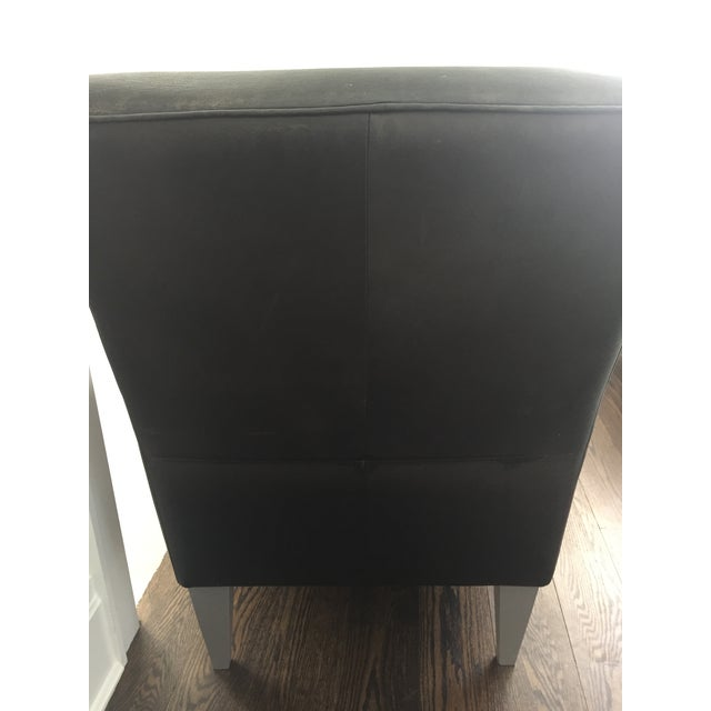 Black Leather Club Chairs - A Pair - Image 5 of 6