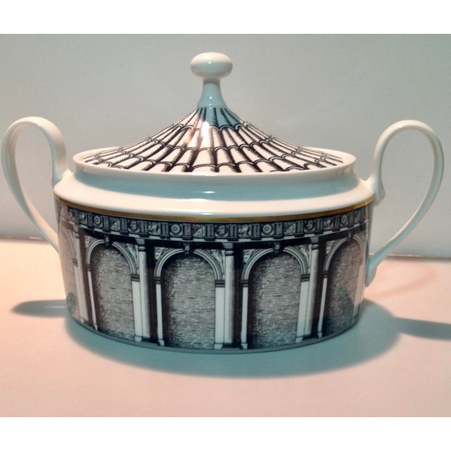 Rosenthal Fornasetti Palladiana Coverd Vegetable Dish For Sale - Image 9 of 9
