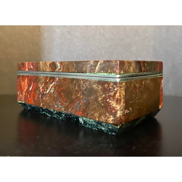 Vintage Silverplate & Marble Trinket / Keepsake Box For Sale In Saint Louis - Image 6 of 6