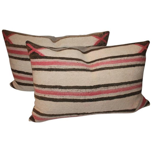 Faded Navajo Saddle Blanket Pillows For Sale In Los Angeles - Image 6 of 6