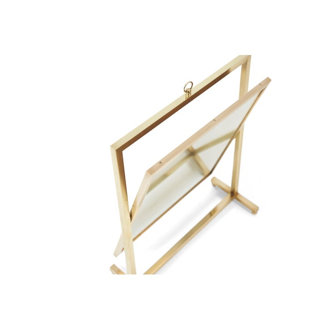 Mid-Century Modern Adjustable Brass Vanity Mirror, Mid Century, 1960s For Sale - Image 3 of 8