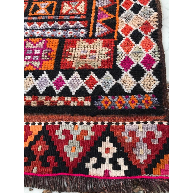 """Hand Made Vintage Turkish Runner- 2'10""""x11'2"""" For Sale - Image 4 of 9"""