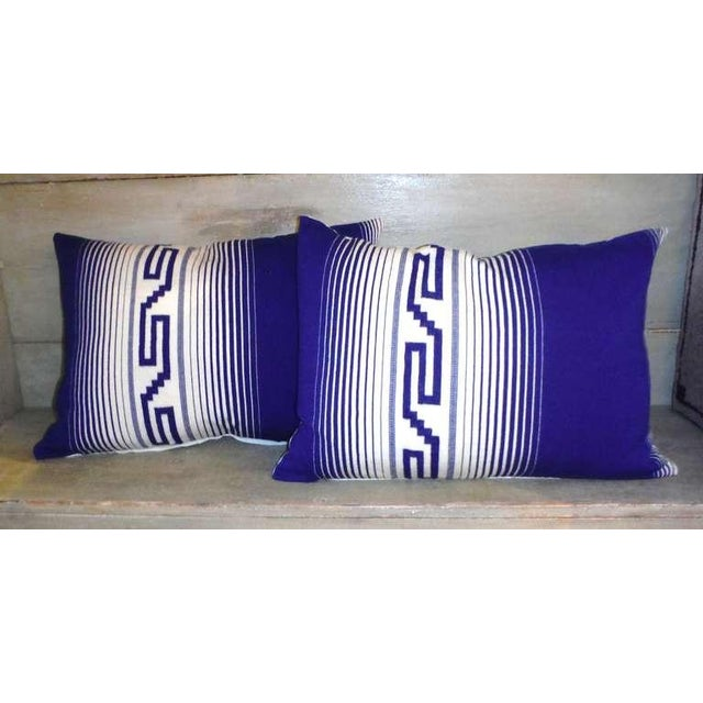 Fantastic colors and condition Tex coco Indian weaving bolster pillows. Sold as a pair.