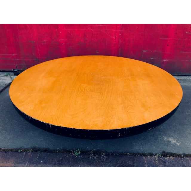 Vintage Kittinger Modern Low Rise Asian Inspired Black Gold Tone Coffee Table