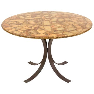 Agate and Bronze Dining Table For Sale