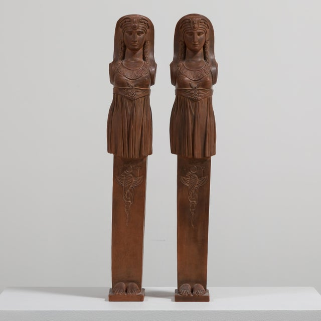 A Pair of Terracotta Term Figures circa 1980 NB: These items are subject to a further discount over and above the trade...