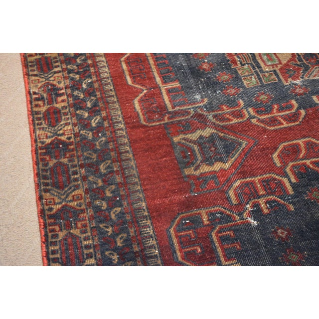Antique hand knotted bohemian style rug