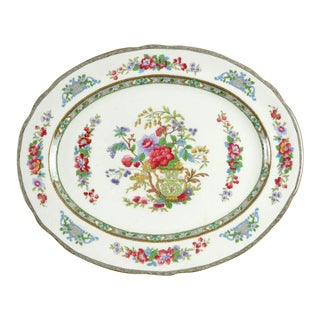 "1970s Paragon Tree of Kashmir 14"" Oval Serving Platter For Sale"
