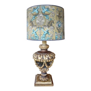 Italian 19th Century Single Lamp For Sale