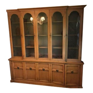 1950's Vintage Mt. Airy China Cabinet For Sale