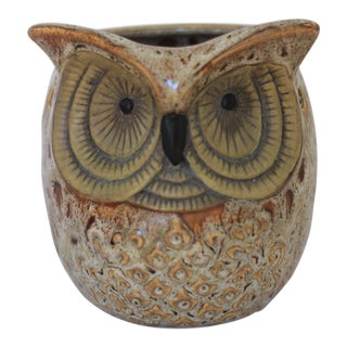 Mid-Century Ceramic Owl Table Light For Sale