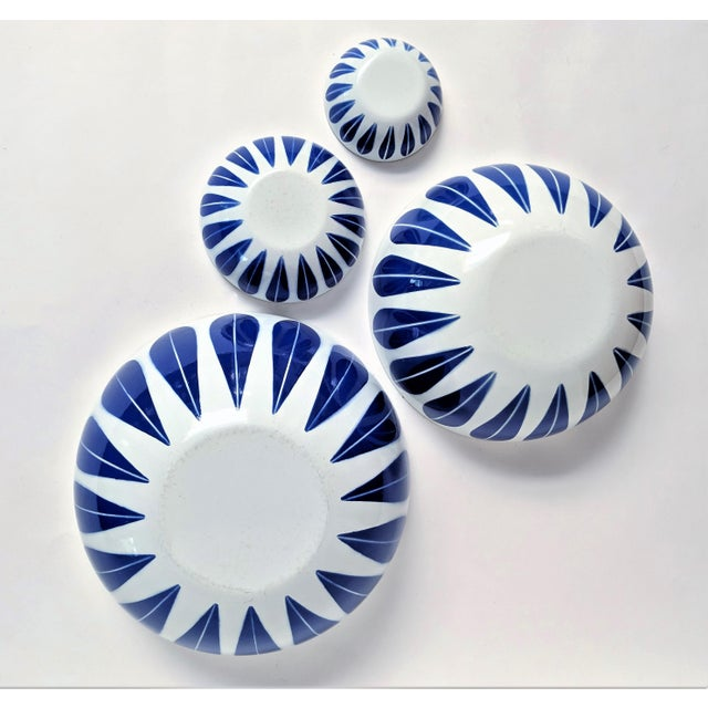 Enamel Catherineholm Blue and White Nesting Bowls - Set of 4 For Sale - Image 7 of 10