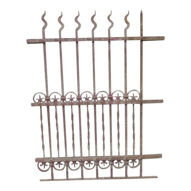 Antique Victorian Iron Gate Window Garden Fence Architectural Salvage Door #316 For Sale