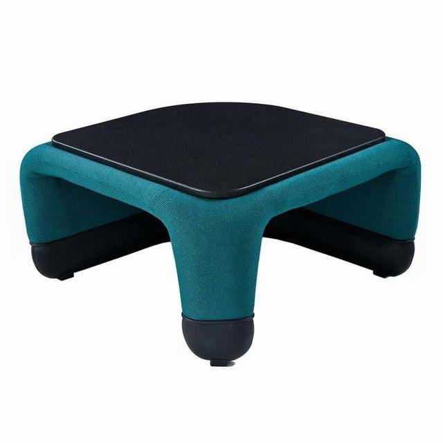 Teal Jan Ekselius Style Modern Modular Teal Tweed Sectional Sofa Seating - Set of 10 For Sale - Image 8 of 13