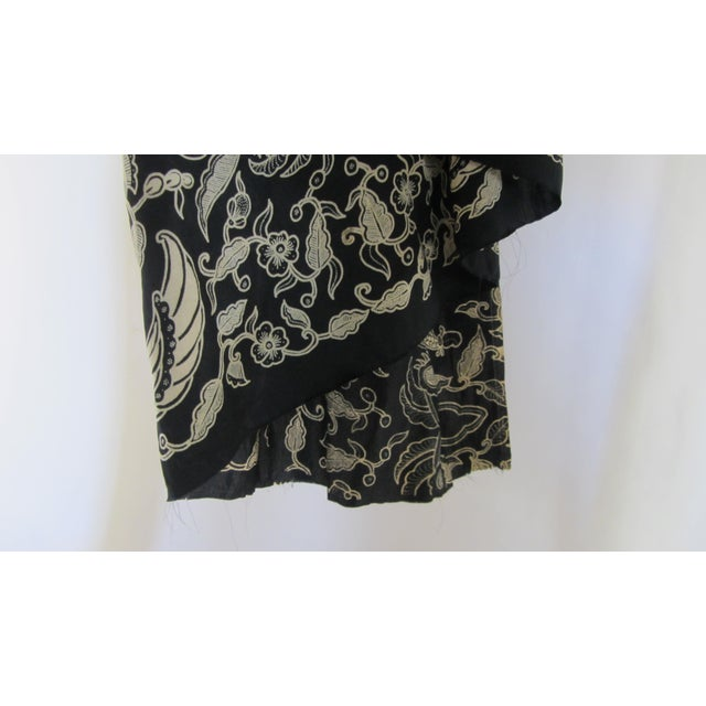 Black & Gold French Silk Damask Throw - Image 6 of 9