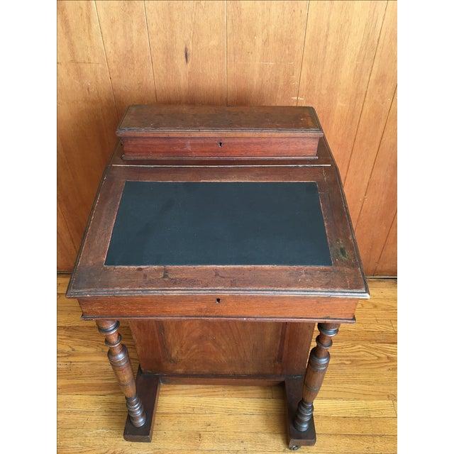 1870's English Antique Ship Captain Desk - Image 8 of 8