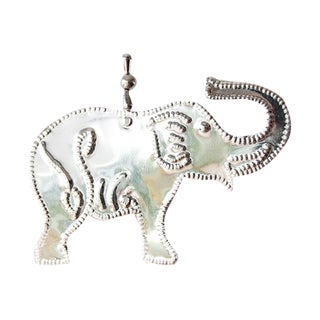 Hanging Aluminum Elephant Ornament For Sale