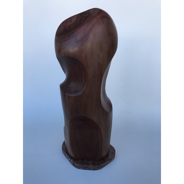 """J. Terkiel """"Abstract IV"""" Mid-Century Styled Mahogany Sculpture For Sale - Image 4 of 7"""